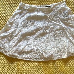 White eyelit mini skirt from Forever 21 size small